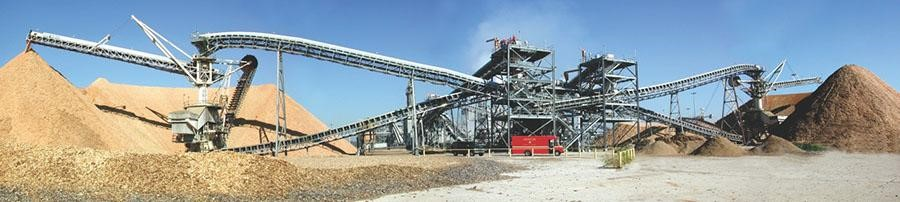 circular stacker reclaimers for woodchips