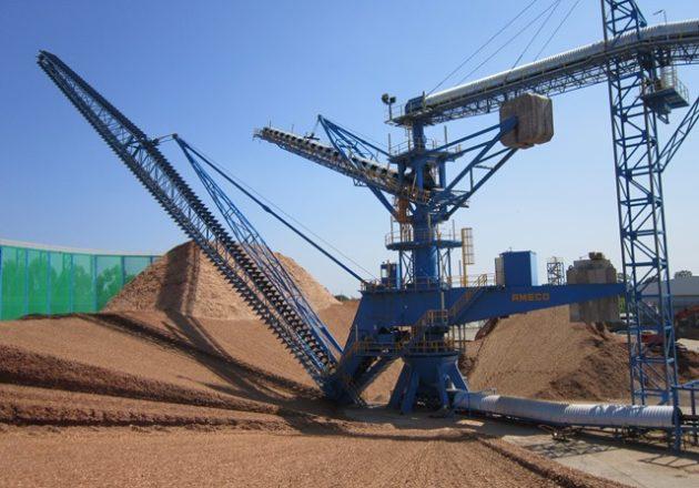 Almacenes circulares para el manejo de material a granel
