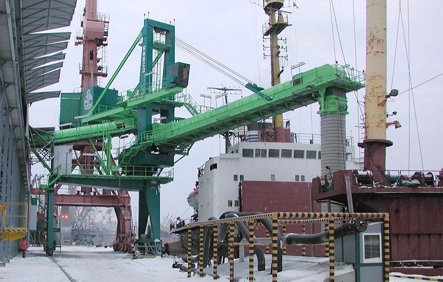 Shiploader grain