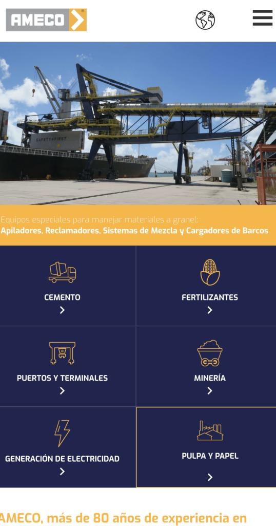 versión en español de su página web